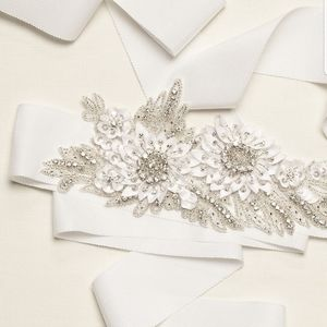 New David's Bridal 3D Floral Embellished Sash/Belt